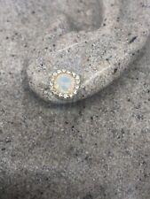 Vintage Etheopian Fire Opal Earrings Golden 925 Sterling Silver Studs