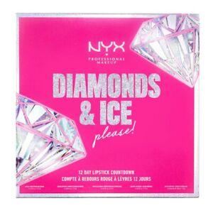 NYX Makeup Diamonds & Ice Please 12 Day Lipstick Advent Calendar Sealed Stunning