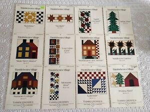 12 Quilt Block Pattern Series THIMBLEBERRIES VILLAGE Lynette JENSEN Complete Set