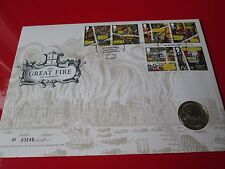 2016 The Great Fire Of London BUNC  £2 Two Pound Coin Cover PNC