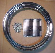 "16"" Chrome Wheel Rim & Zinc Spoke Set fits Harley Knucklehead Panhead"