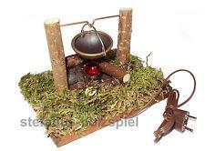 Lagerfeuer für Krippe, 3,5V Krippenzubehör, Feuerstelle, Kahlert 40683