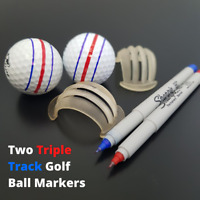 2 Callaway Triple Track Golf Ball Line Marker Stencils ERC Odyssey Chrome Soft