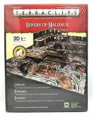 New Sewers of Malifaux Terraclips and connector box, used Streets of Malifaux