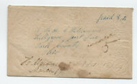 1850s Belle Centre and Hillgrove Ohio forwarded stampless [H.134]
