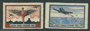 POLAND 1921 AIR PAIR MINT HINGED SEE BOTH SCANS FOR CONDITION