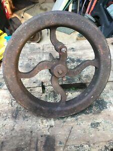 Cast Iron Wheel Crank Cog  Antique Industrial Steampunk Mill Part B28