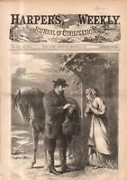 1869 Harpers Weekly March 6 - Country Doctor; Indian burial place; Buffalo NY