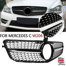AMG Diamonds Grille For Mercedes-benz W204 C Class Saloon Estate Coupe Black
