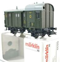 MARKLIN 4699 HO - GERMAN DRG GREEN LIVERY FREIGHT TRAIN BAGGAGE VAN