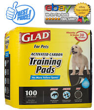 Glad for Pets Activated Charcoal Puppy Black Training Pads That ABSORB & Neutral
