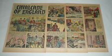 1946 eight page cartoon story ~ CAVALCADE OF ENGLAND Edward VII to WWII
