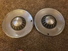 "TWO VINTAGE 15""?,  BLACK CENTER HUBCAPS, FORD? CHEVY? CHYSLER?"