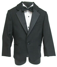 New Boy's Size 6 Joseph Abboud Black Tuxedo Jacket with Satin Notch Lapels