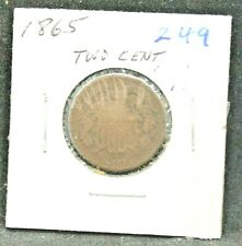 1865 Two-Cent piece 2 Cents #249