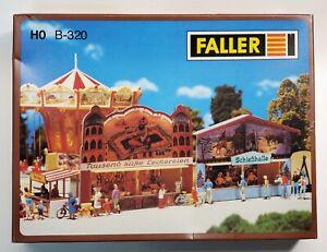Faller HO 320 Concession Booths Fair 1:87 Kirmes Jahrmarkt NEW Discontinued