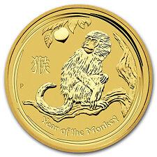2016 Australia 1/10 oz Gold Lunar Monkey BU - SKU #92754