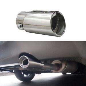 1x Chrome Straight Car Exhaust Pipe Tail Muffler Tip Tail Throat Car Accessories