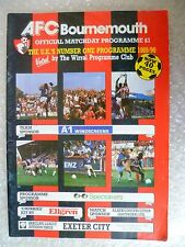 1991 AFC BOURNEMOUTH v EXETER CITY, 5th Feb (League Division Three)