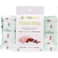 4myearth Food Bag Large Reusable Lunch Pouch Snack Fruit Eco Friendly Llamas
