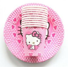 Party :  Paper Plate Cups Set Hello Kitty Party Needs 10 pcs