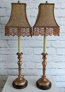 Raymond Waites Tyndale Frederick Cooper Candlestick Buffet Lamps