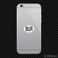 BUR Burma Country Code Oval Cell Phone Sticker Mobile Burmese euro