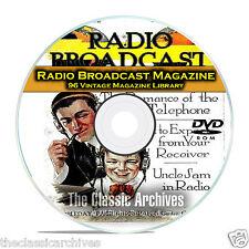 Radio Broadcast Magazine, 96 Vintage Old Time Radio Magazine Collection DVD B91