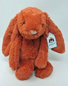 "Jellycat Bashful Cinnamon Bunny Rabbit 12"" Toy Stuffed Animal Medium Orange"