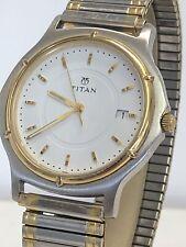 Titan Gents Dual-Colour Quartz Watch With Stretch Strap