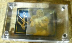 DAN MARINO UPPER DECK GOLD ETCHED CARD DOLPHINS UDA WITH POUCH