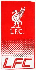 LIVERPOOL FC LARGE RED WHITE CRESTED BEACH BATH SWIM GYM TOWEL 100% COTTON  LFC