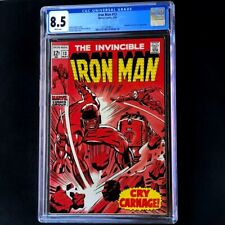 IRON MAN #13 (Marvel 1969) 💥 CGC 8.5 WHITE 💥 Controller & Nick Fury App! Comic