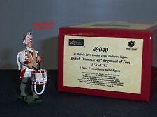 Britains 49040 GIUBBE ROSSE inglesi batterista 48th Reggimento di 1755 Piedi Giocattolo Soldato