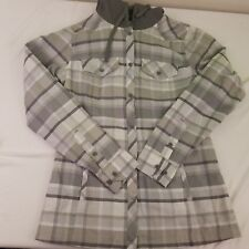 Columbia Women's Gray Plaid Hooded Lightweight Jacket Size Small