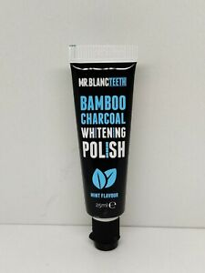 Mr Blanc Teeth Charcoal Toothpaste - Natural Teeth Whitening Polish - 25ml