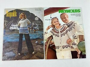 Two Reynolds Lopi Patterns Catalog - Volume 72 & 82 Knitting Icelandic Sweater