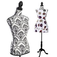 Female Adjustable Mannequin Dress Form Sewing Torso Display Tripod Black New