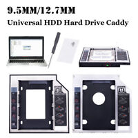 Universel 2ème disque dur SSD HDD SATA 9.5 / 12.7mm  pour DVD-ROM CD Optical Bay