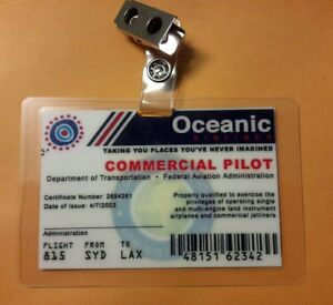 Lost TV Series ID Badge - Commercial Pilot cosplay prop costume