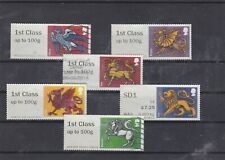 GB STAMPS POST AND GO LABELS HERALDIC BEASTS