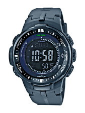 Casio Pro Trek Men's Prw3000-1A Tough Solar Atomic Black Resin Band 46mm Watch