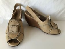 Rachel Comey wooden wedge RARE brown tan shoes US Size 7