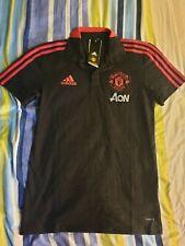 * Raro * BNWT MUFC Adidas Polo T-shirt Tamaño Pequeño Manchester United 20/21 para hombre.