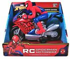 RC Spiderman Motorbike Marvel Remote Control High Speed 27MHZ NEW In Box