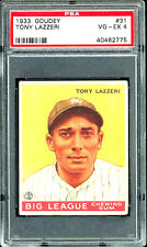 1933 Tony Lazzeri Goudey World Wide Chewing Gum #31 PSA 4 VG-EX