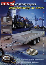 Prospekt Henra Hochlader Anhänger 2002 brochure Plateauwagen Platformtrailer
