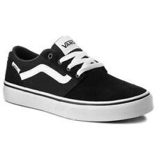 Vans Champman Stripe Suede Canvas Skate Shoes Trainers Sneakers Black