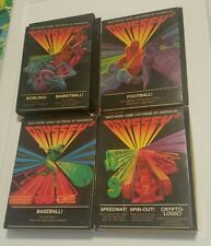 Lot of 4 vintage Odyssey 2 Games Baseball, Bowiling, Football, Speedway