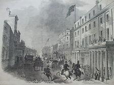 Stampa ANTICO DATATO 1846 il ILLUSTRATO London News Bath Street NUOVO Post Office